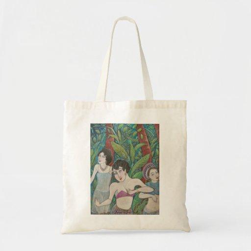 '3 Dancers' tote bag