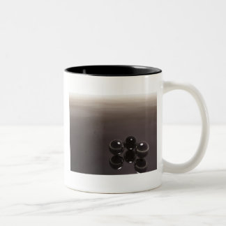 3 Dark Balls Two-Tone Coffee Mug