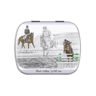 3-Day Eventing Horses Combined Training Candy Tin