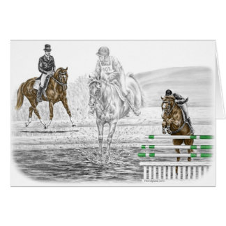 3-Day Eventing Horses Combined Training Cards