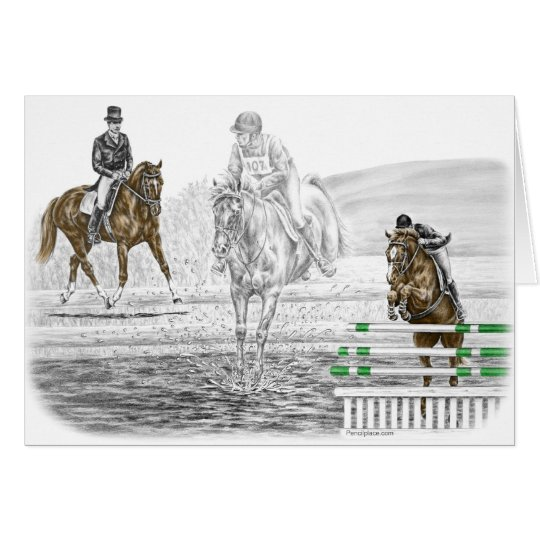 3-Day Eventing Horses Combined Training Card