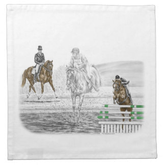 3-Day Eventing Horses Combined Training Cloth Napkin