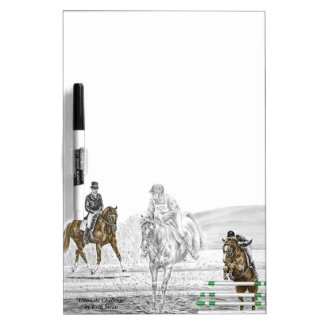 3-Day Eventing Horses Combined Training Dry Erase Board