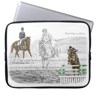 3-Day Eventing Horses Combined Training Laptop Sleeve