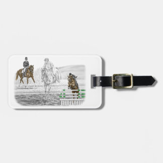 3-Day Eventing Horses Combined Training Luggage Tag