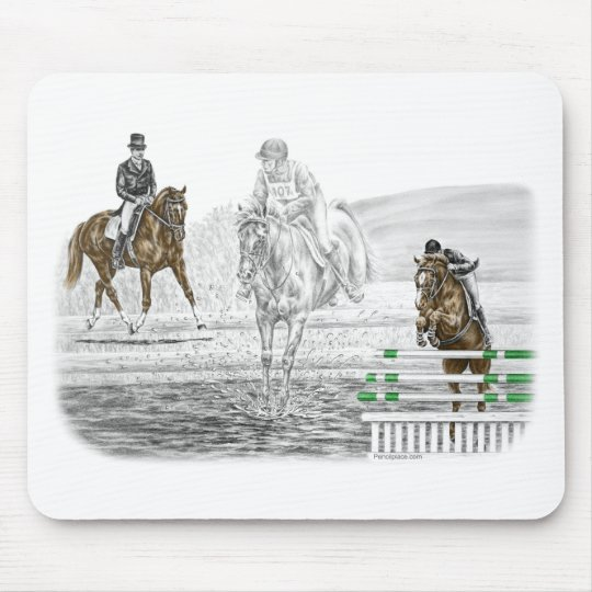 3-Day Eventing Horses Combined Training Mouse Pad
