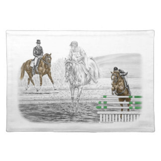 3-Day Eventing Horses Combined Training Placemat