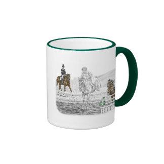 3-Day Eventing Horses Combined Training Ringer Mug