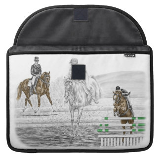 3-Day Eventing Horses Combined Training Sleeves For MacBook Pro