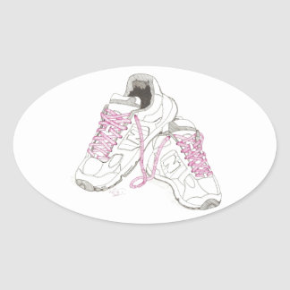 3 Day Walking Shoes Oval Sticker