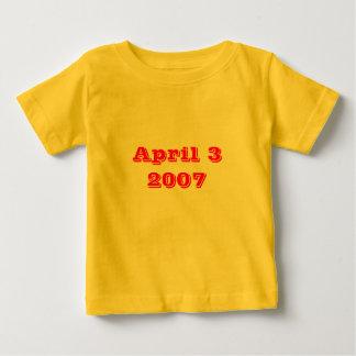 3 de abril de 2007 camisetas