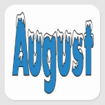 3 de agosto calcomanía cuadrada