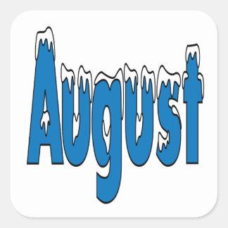 3 de agosto pegatina cuadrada