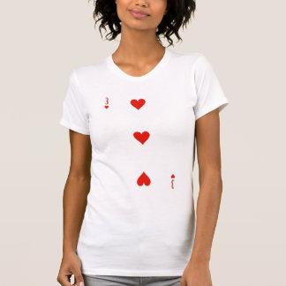3 de corazones (de) playera