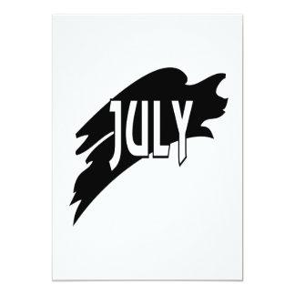 """3 de julio invitación 5"""" x 7"""""""
