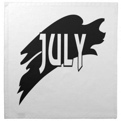 3 de julio servilleta imprimida