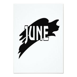 """3 de junio invitación 5"""" x 7"""""""