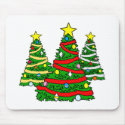 3 decorated Christmas Trees