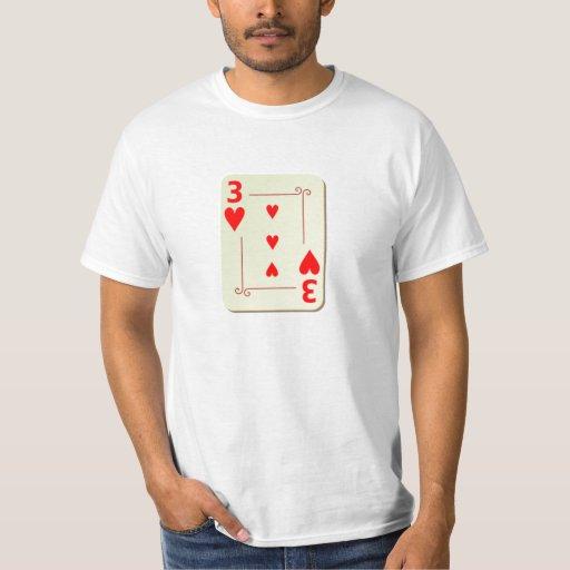 3 del naipe de los corazones camisas