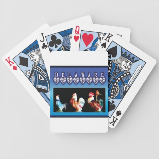 3 Delaware Chickens Playing Cards