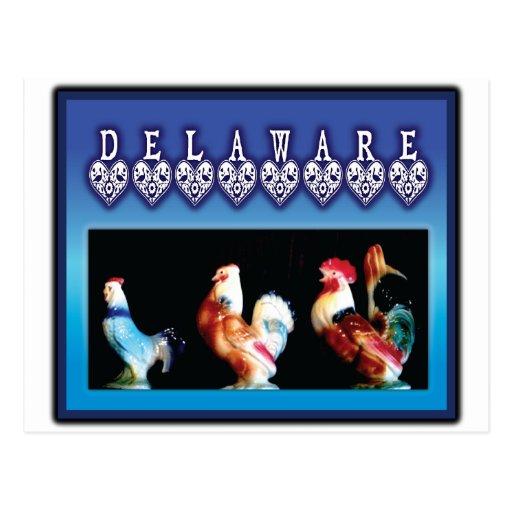3 Delaware Chickens Postcard