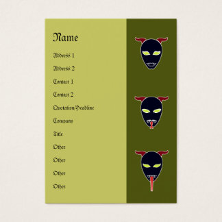 3 Demons Satan (Middle) Business Card