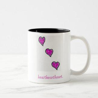 3 descending hearts, heartheartheart., GiaMia Coffee Mug