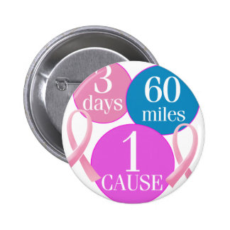 3 días 60 millas pin redondo de 2 pulgadas