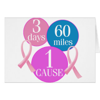 3 días 60 millas tarjeta de felicitación