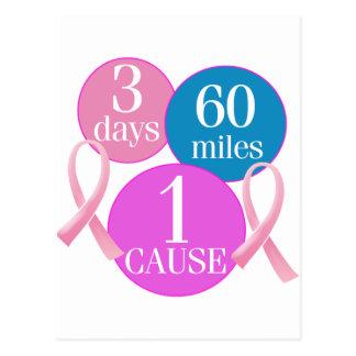 3 días 60 millas tarjetas postales