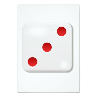 3 Dice Roll 3.5x5 Paper Invitation Card