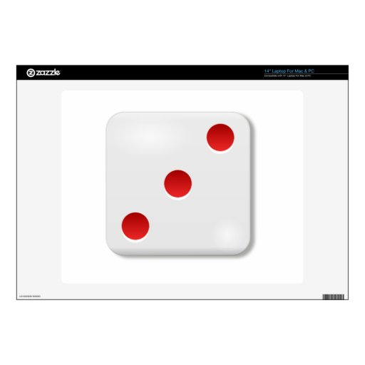 """3 Dice Roll 14"""" Laptop Decals"""