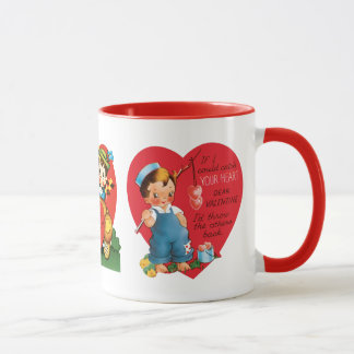 3 Different Cute Vintage Valentine's Day Hearts Mug