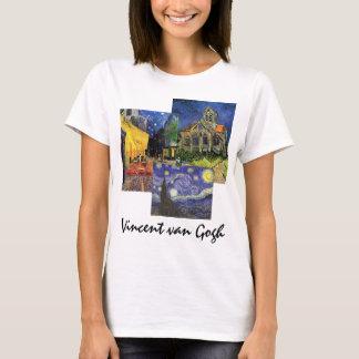3 different Famous Vintage van Gogh Art Paintings T-Shirt