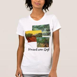 3 different Van Gogh Olive Grove Trees Vintage Art T Shirts