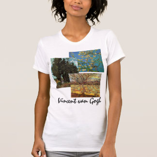 3 different van Gogh Trees with Flowers Fine Art Tees