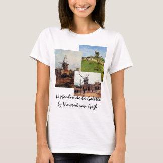 3 different van Gogh Vintage Architecture Windmill T-Shirt