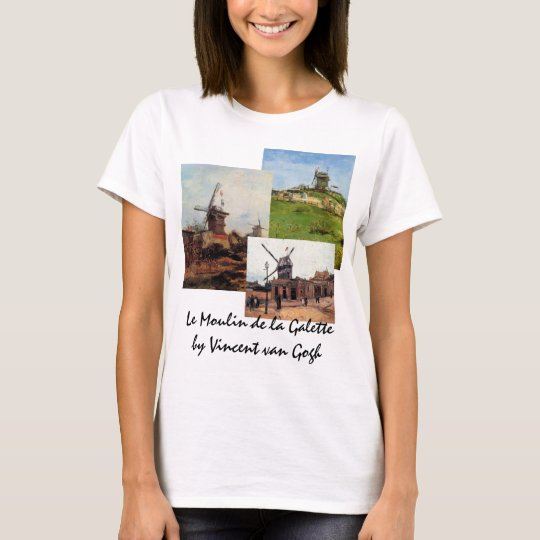 3 different van Gogh Vintage Architecture Windmill T-Shirt