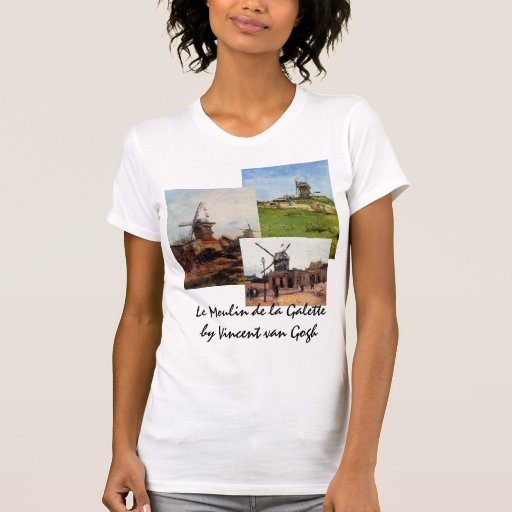 3 different van Gogh Vintage Architecture Windmill Tee Shirts