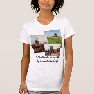 3 different van Gogh Vintage Architecture Windmill Tee Shirt