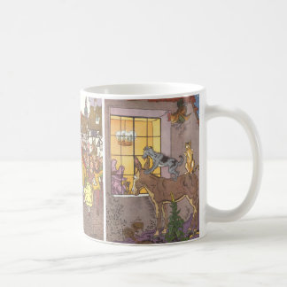 3 different Vintage Classic Fairy Tales by Hauman Mugs