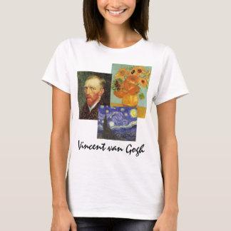 3 different Vintage van Gogh Famous Art Paintings T-Shirt