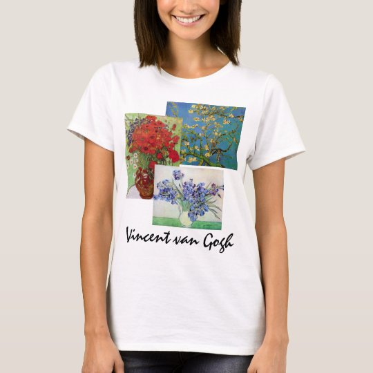 3 different Vintage van Gogh Floral Flower Art T-Shirt