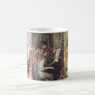 3 different Young Girls at the Piano by Renoir Classic White Coffee Mug