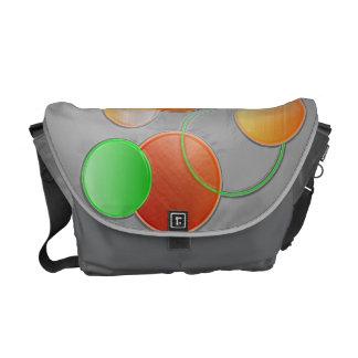 3 Dimensional Circles Messenger Bag