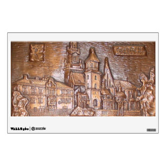 3-DIMENSIONAL COPPERPLATE KRAKOW POLAND WALL DECAL