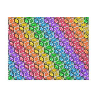 3 Dimensional Cubes Stretched Canvas Print