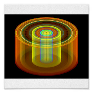 3 dimensional interlocking cylinders poster