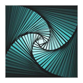 3 dimensional spiral blue canvas print