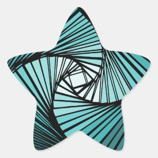 3 dimensional spiral blue